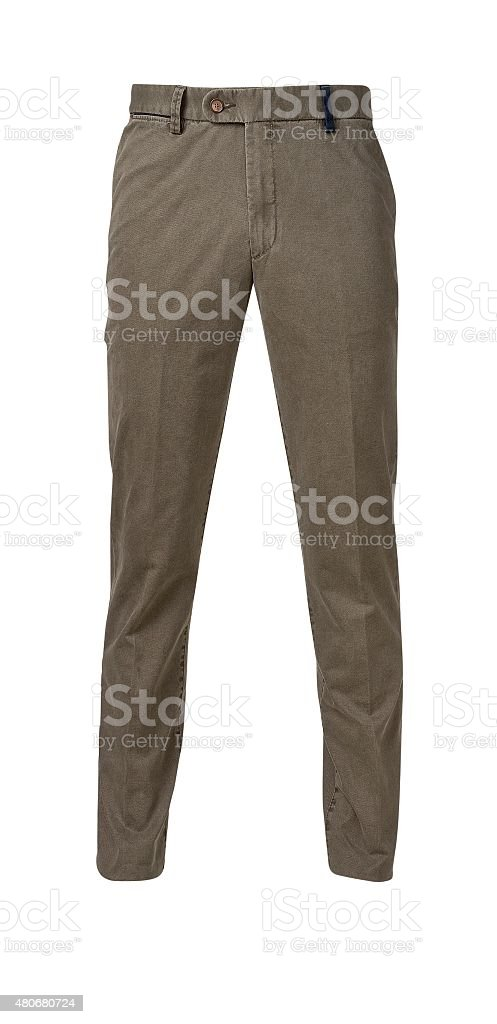 pants for men isolated on white with clipping path stock photo