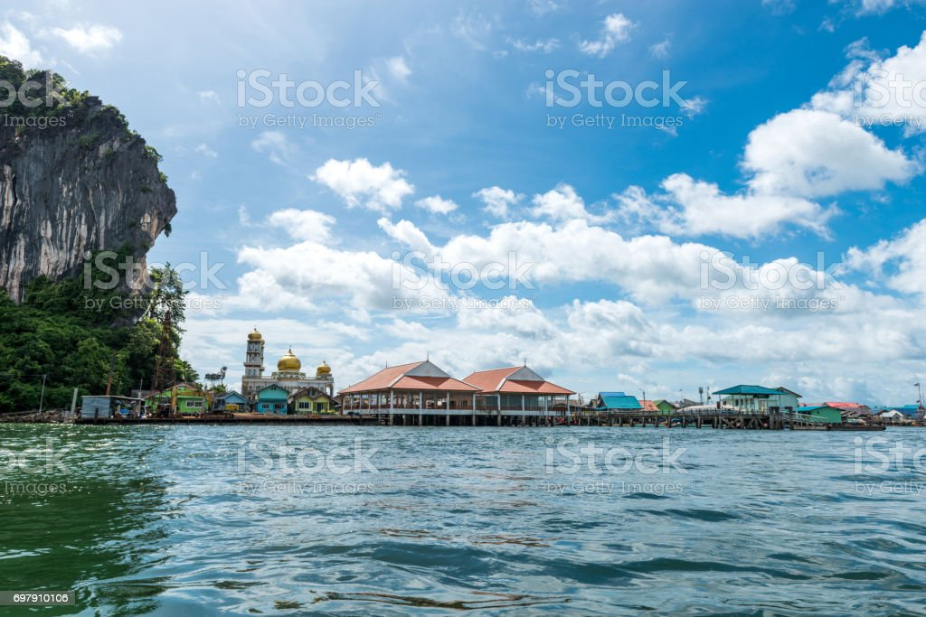 Panyee island at south of Thailand stock photo