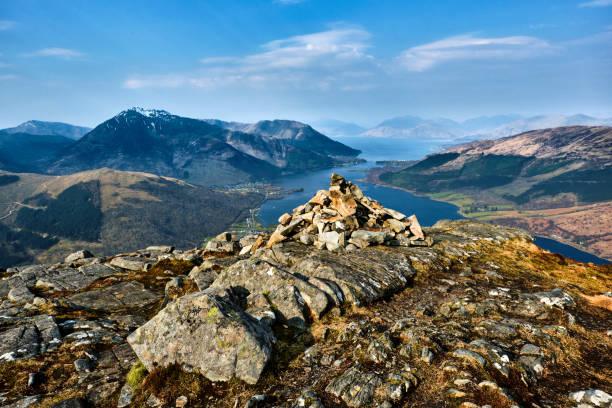 papp von glencoe summit, glencoe, schottland - see loch leven stock-fotos und bilder