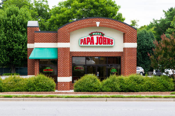 Papa John's Pizza storefront stock photo