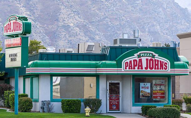 Papa John's Restaurant Exterior stock photo