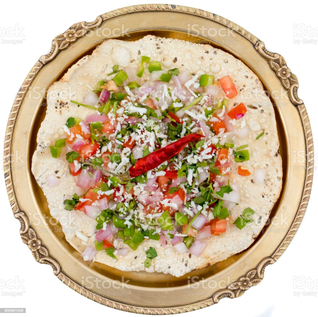 Papad Or Khichiya stock photo