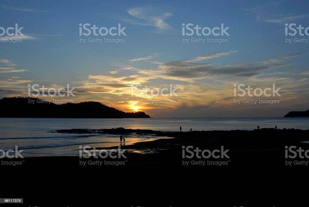 Papagayo coast sunset royalty-free stock photo