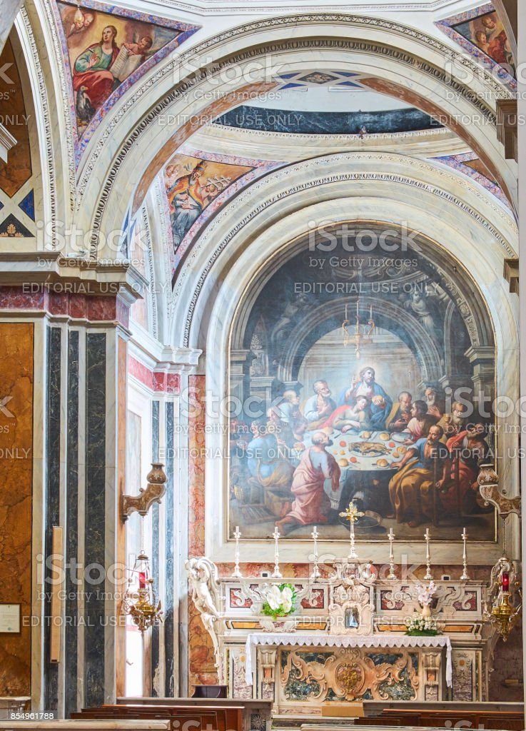 Papal Basilica Cathedral of Brindisi, Apulia, Italy. stock photo