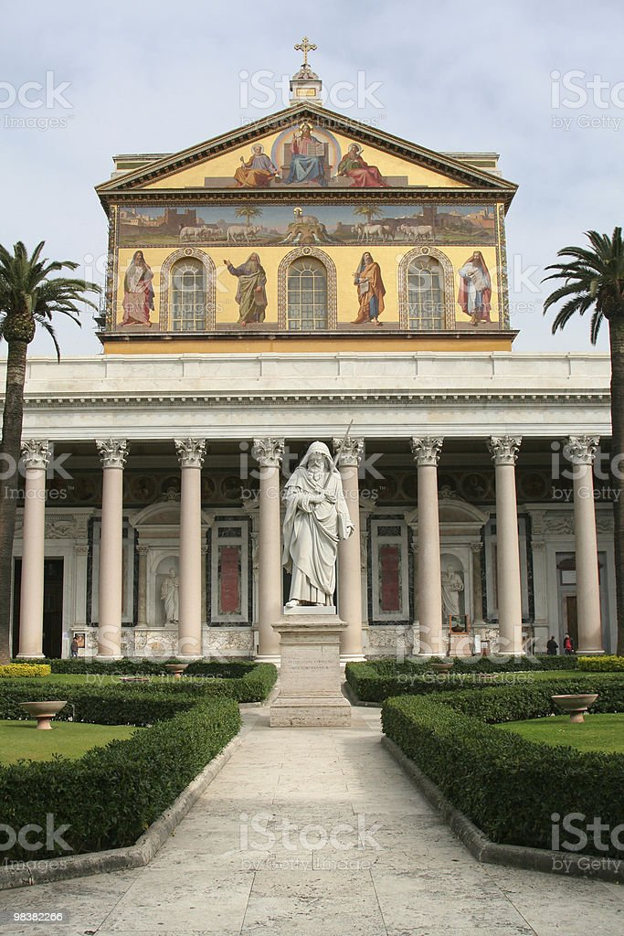 Papal Basilica of St Paul Outside the Walls royalty-free stock photo
