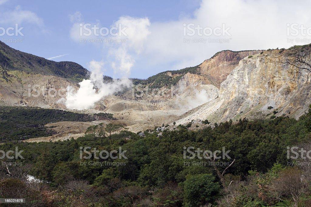 Papandayan Volcano, Indonesia. stock photo
