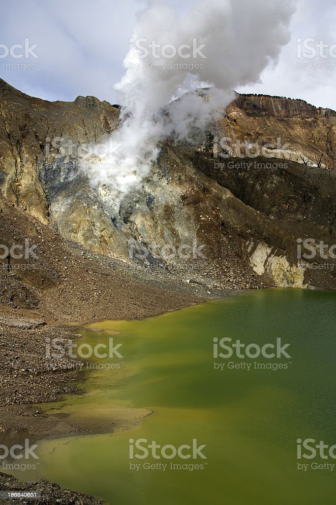 Papandayan volcano stock photo