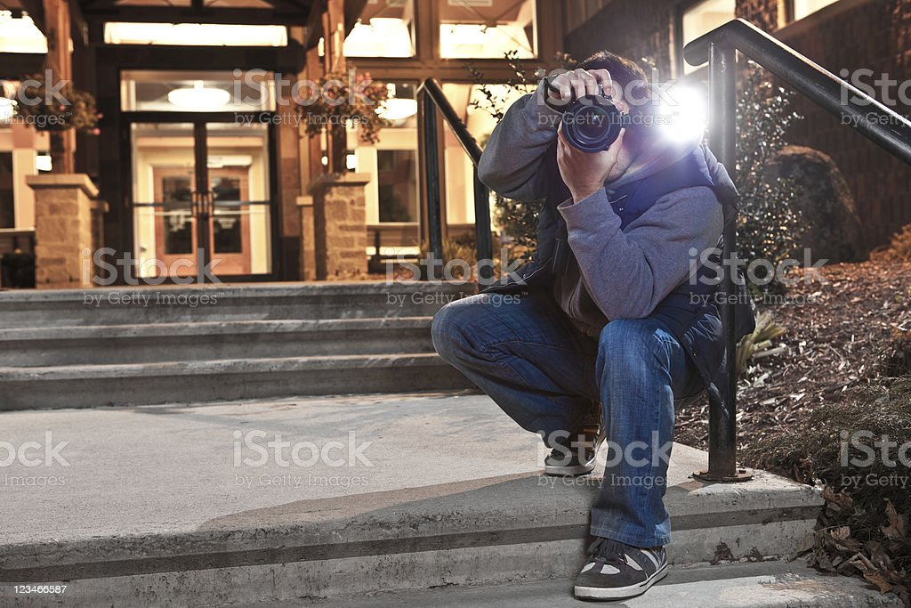paparazzi photographer royalty-free stock photo