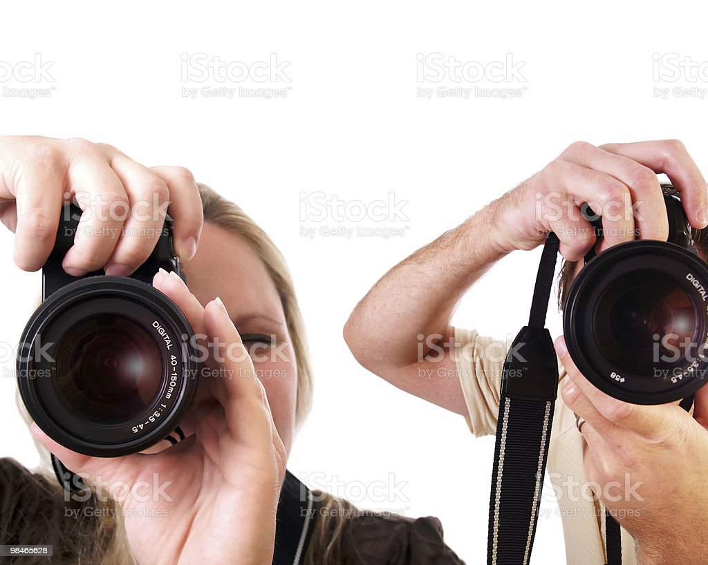 Paparazzi royalty-free stock photo