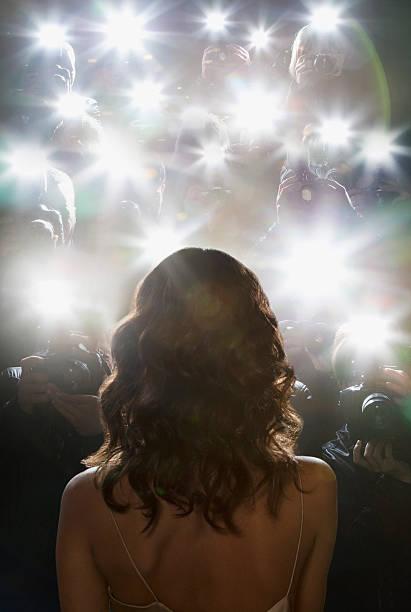 Paparazzi prendre des photos de célébrités - Photo