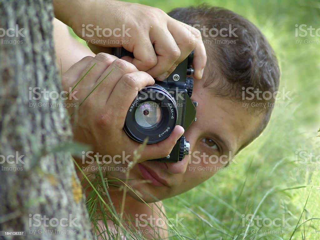 paparazzo stock photo