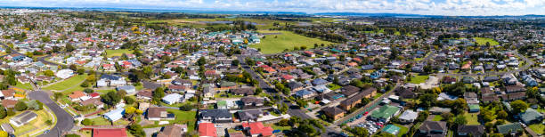 Papatoetoe Aerial View stock photo