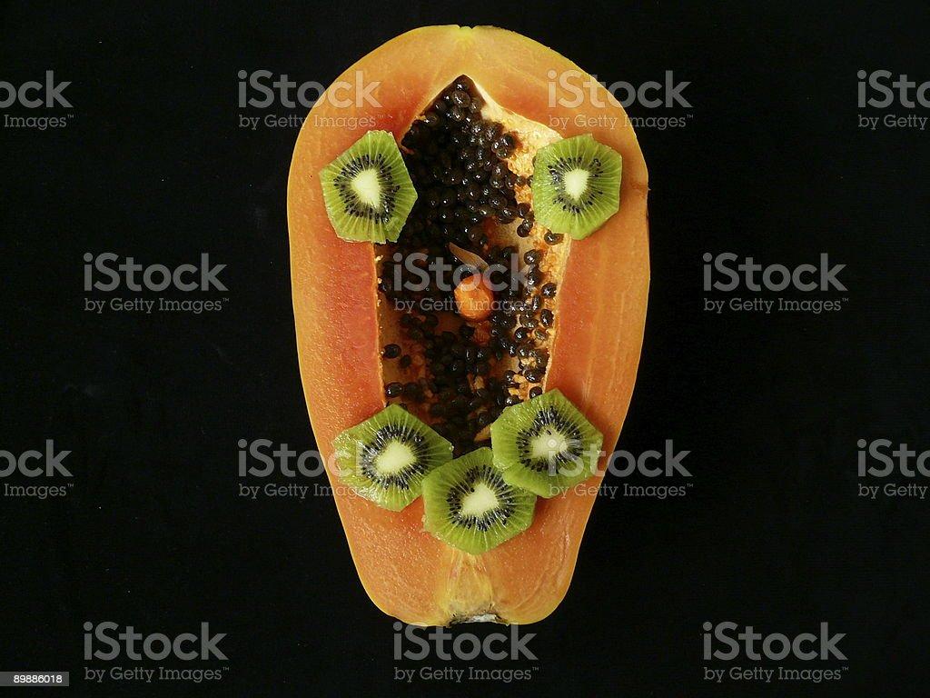 Papaya cara foto de stock libre de derechos