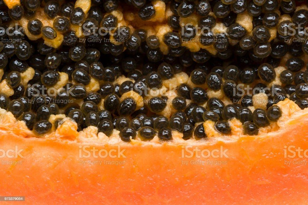 Papaya-Frucht-Makro – Foto
