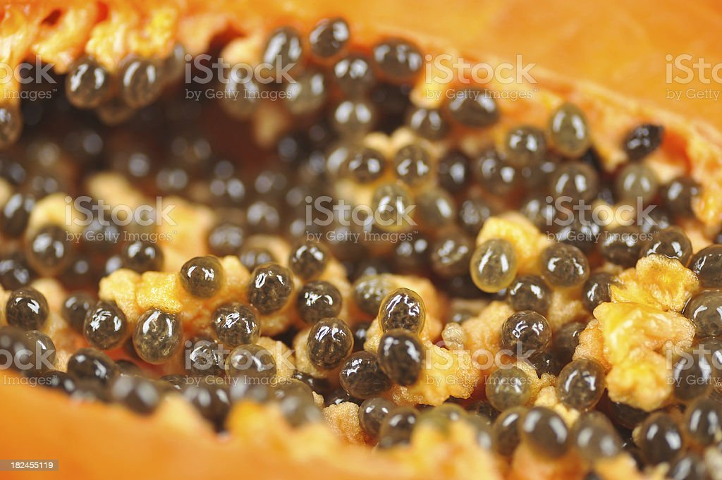 papaya macro close-up royalty-free stock photo