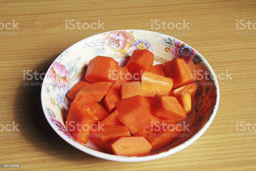 Papaya Ripe. royalty-free stock photo