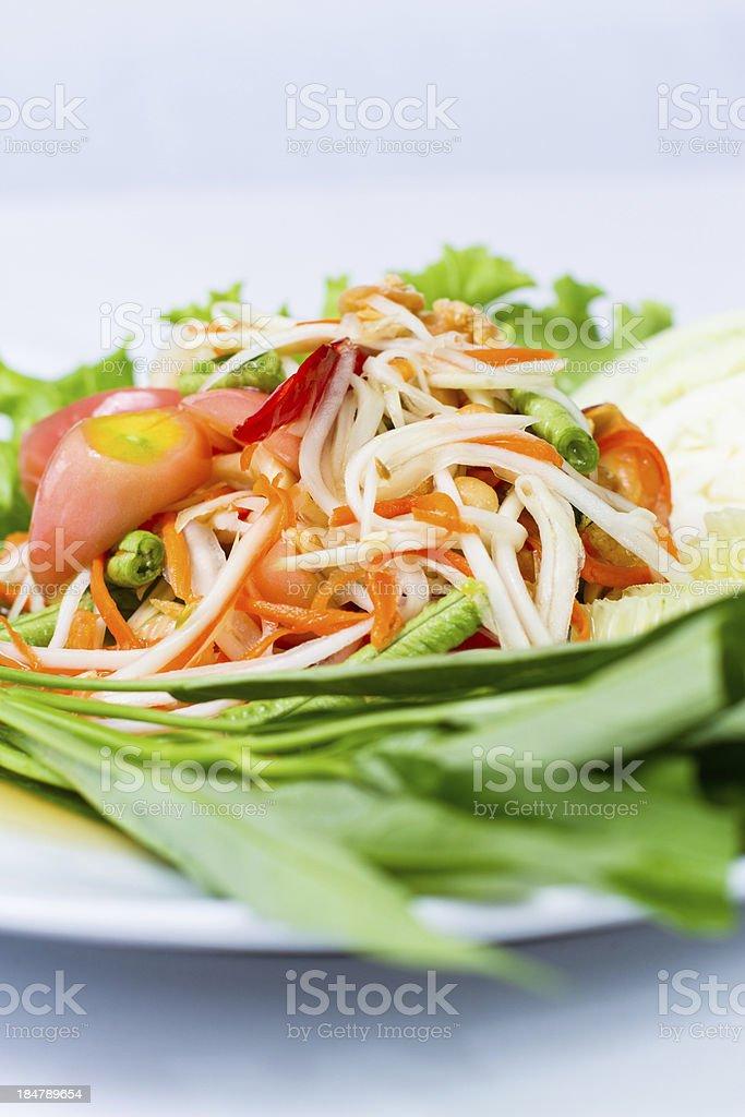 papaya salad royalty-free stock photo