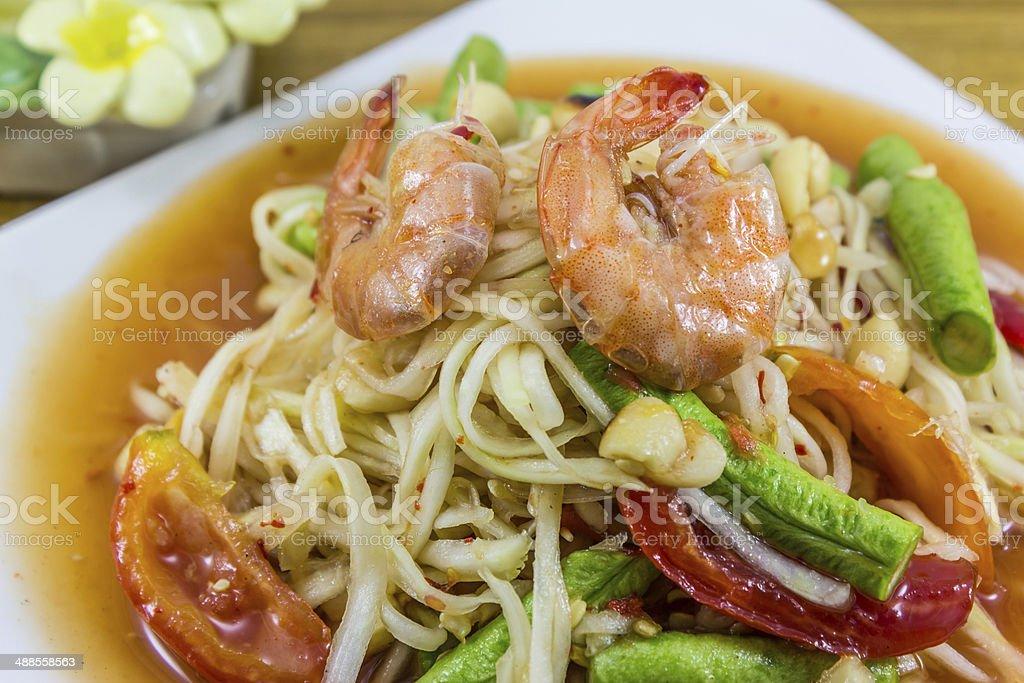Papaya Salad,Thai Food stock photo