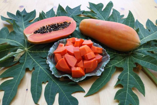 papaya_fruit_above stock photo