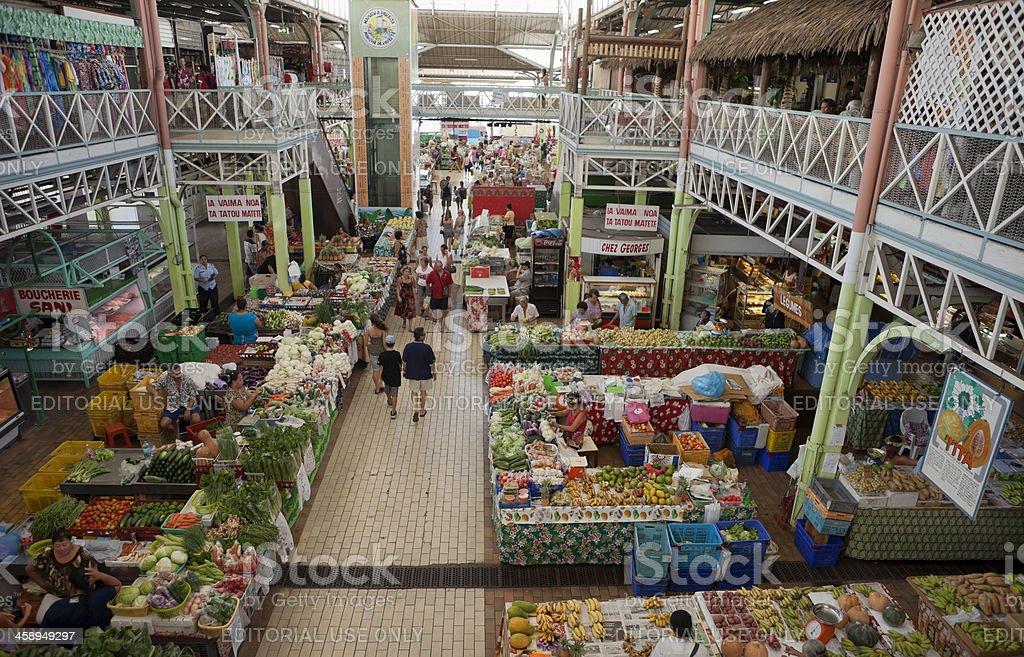 Papeete market place stock photo