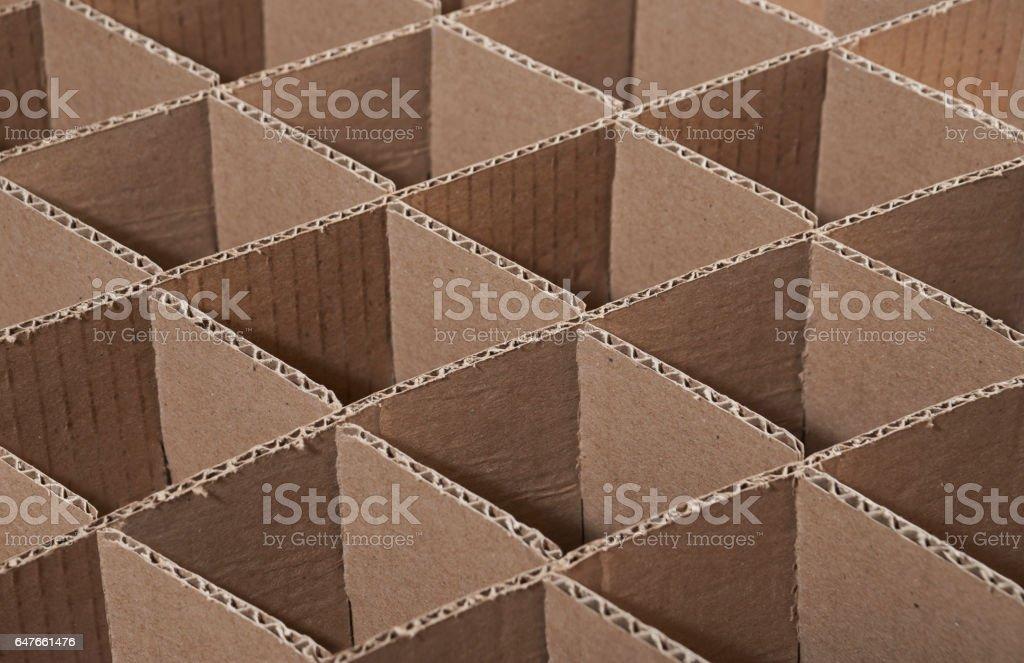Papelão ondulado stock photo