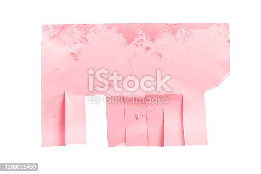 170011440 istock photo Paper ad with tear off papers isolated 1203005459