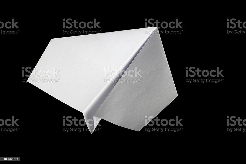paper aireplane stock photo