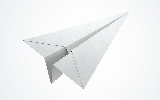 istock Paper airplane flying 515788110
