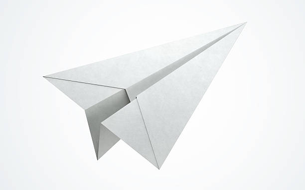 Avion en papier volant - Photo
