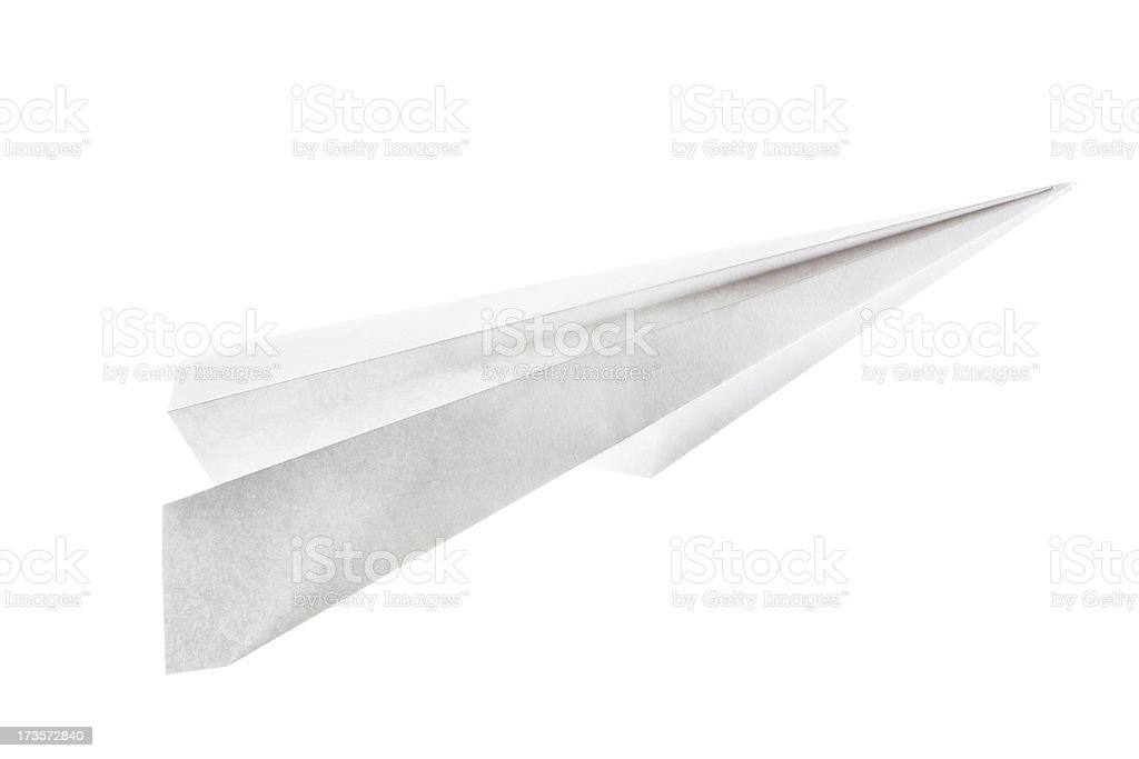 Paper Airplane Isolated on White royalty-free stock photo