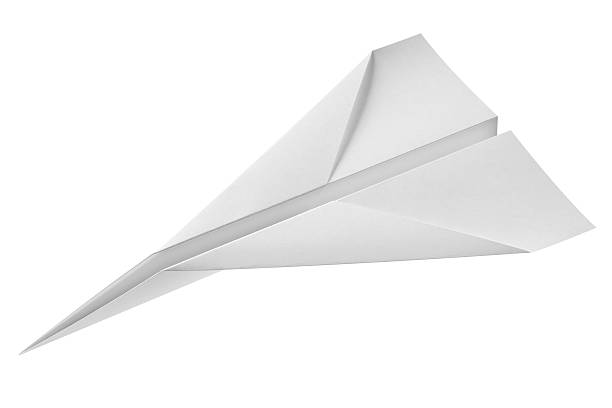 paper airplane - paper airplane stock photos and pictures