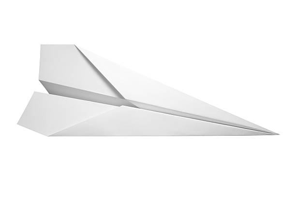 """Paper Airplane """"Top view of a paper airplane, isolated on white background. Clipping path included."""" paper airplane stock pictures, royalty-free photos & images"""