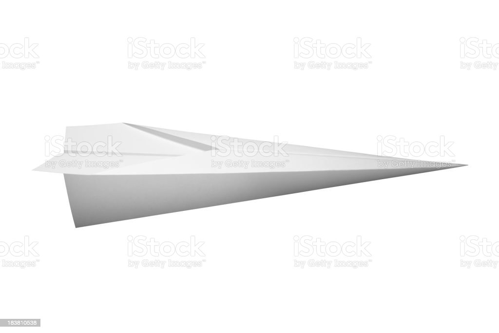 Paper Airplane royalty-free stock photo