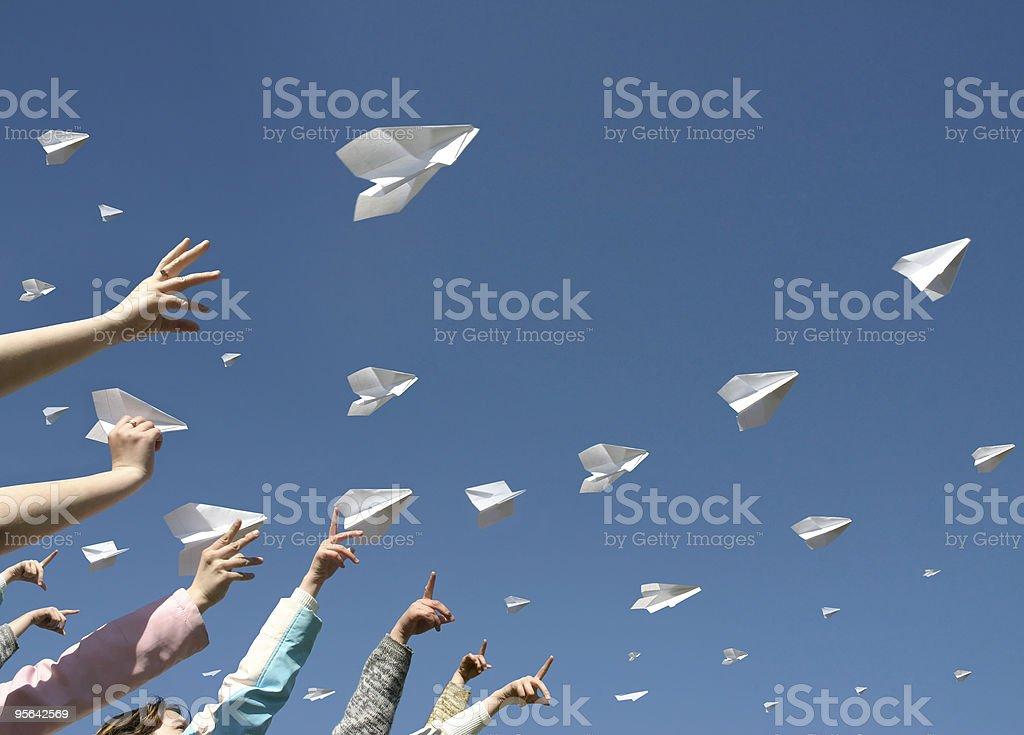 Des avions en papier - Photo