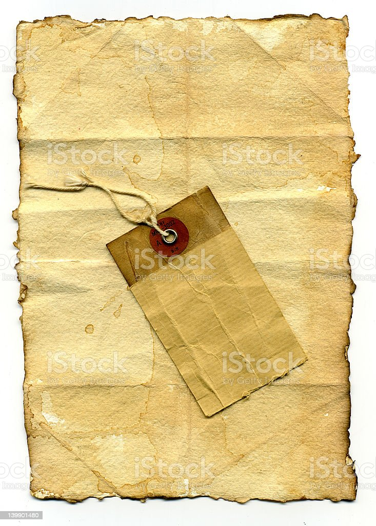 paper and label royalty-free stock photo