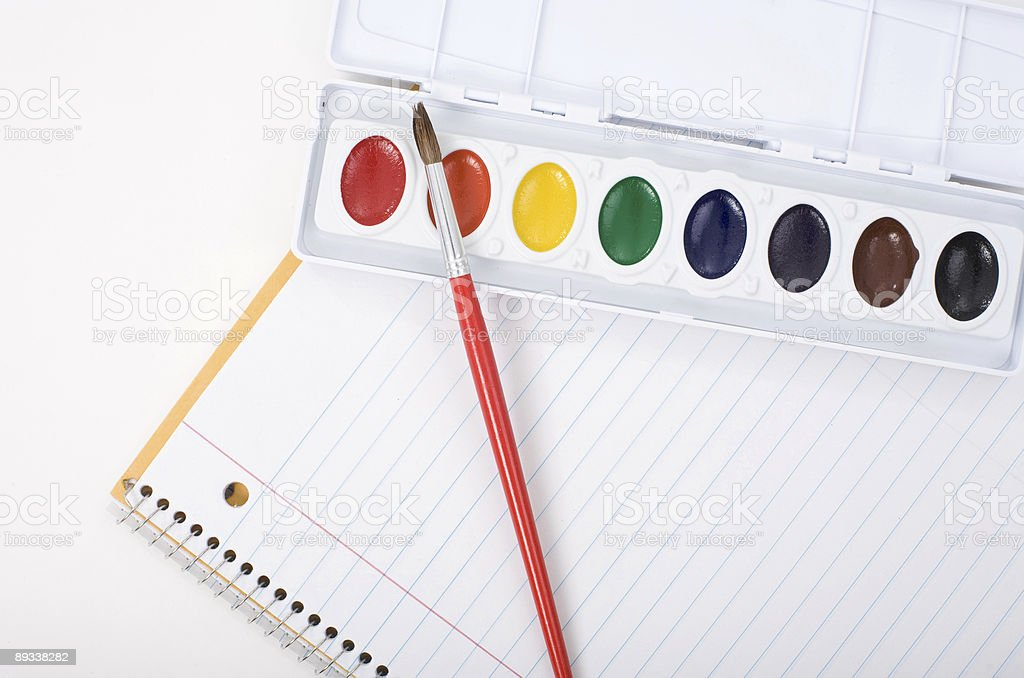 Paper and Paint royalty-free stock photo