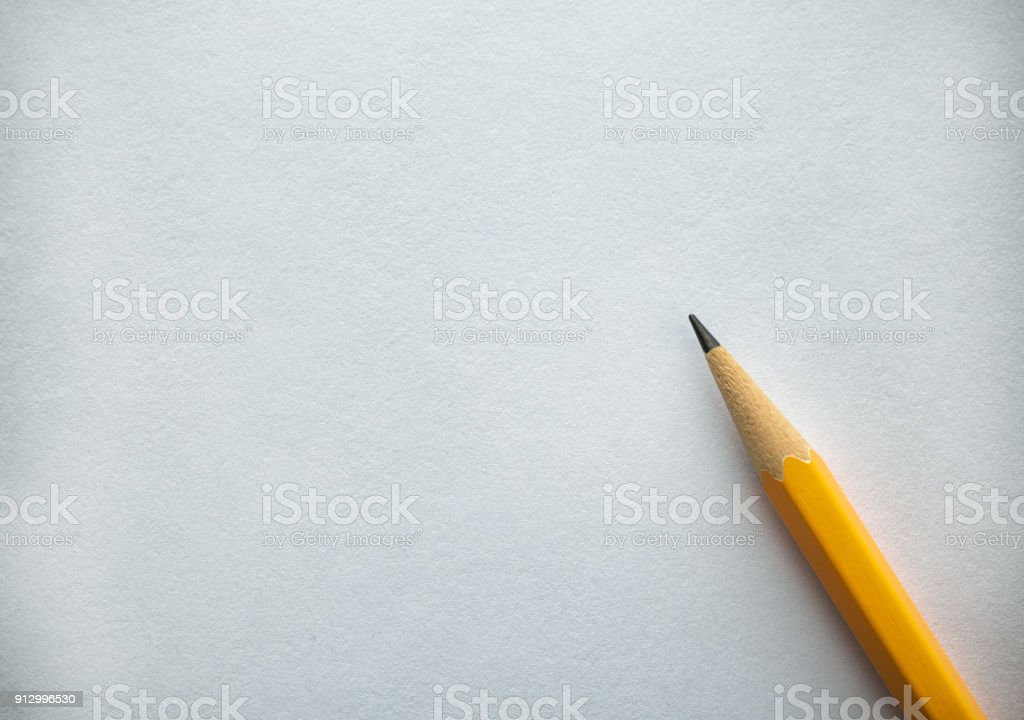 Paper and Pencil stock photo
