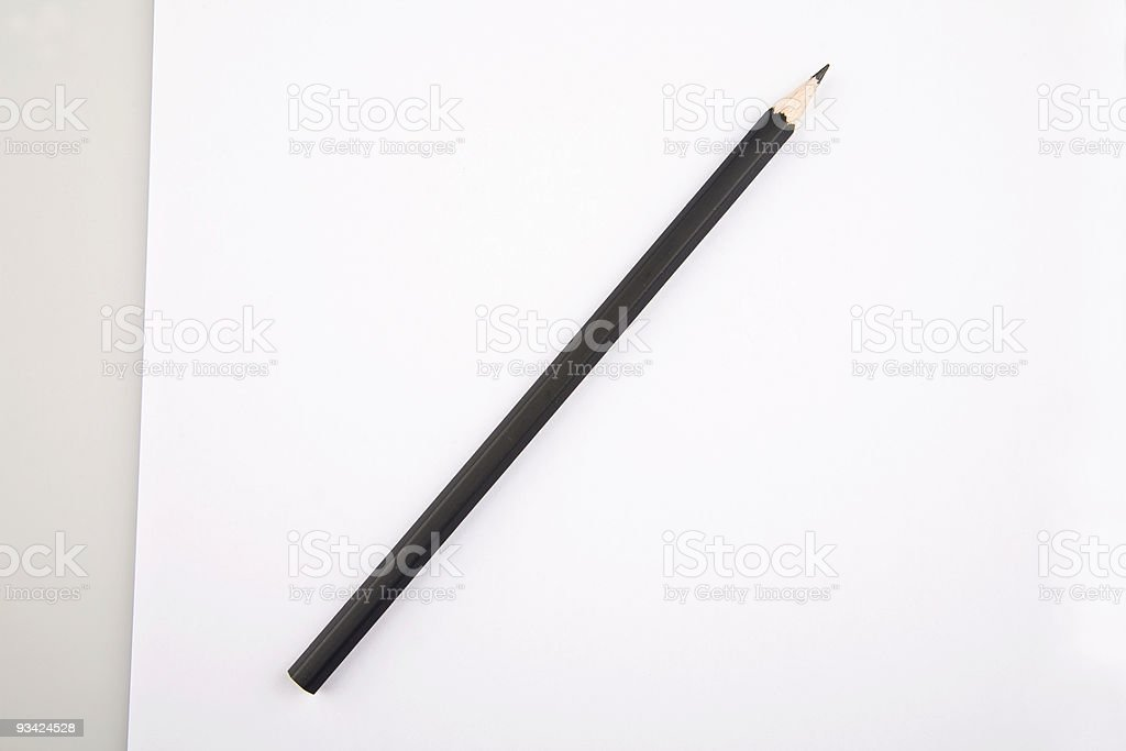 paper and pencil royalty-free stock photo