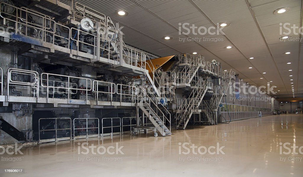 Paper and pulp mill - Factory, Plant stock photo