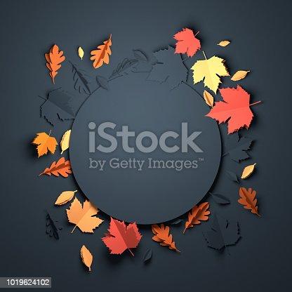 istock Paper Art - Autumn Background 1019624102