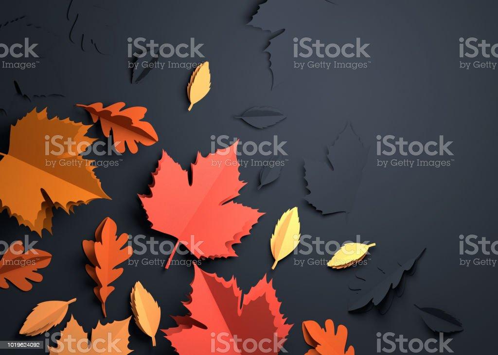 Papierkunst - Herbst Herbst Blätter Hintergrund – Foto