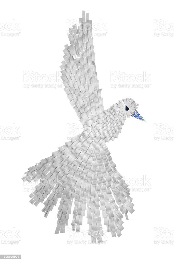 Paper art bird stock photo