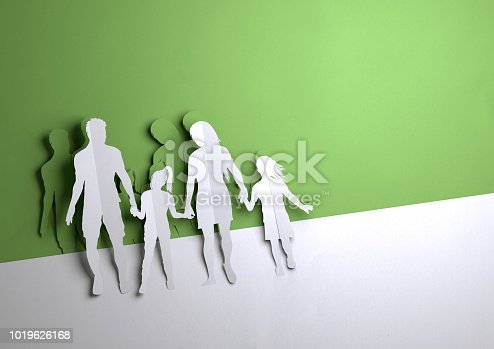 istock Paper Art - Happy Young Family 1019626168