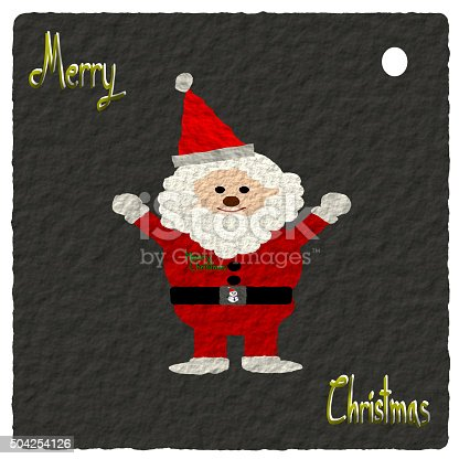 527392693 istock photo Paper art style, Christmas Greeting Card 504254126