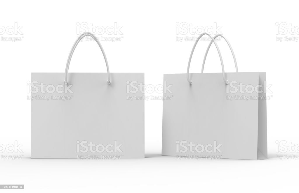 Paper bag for shopping stock photo