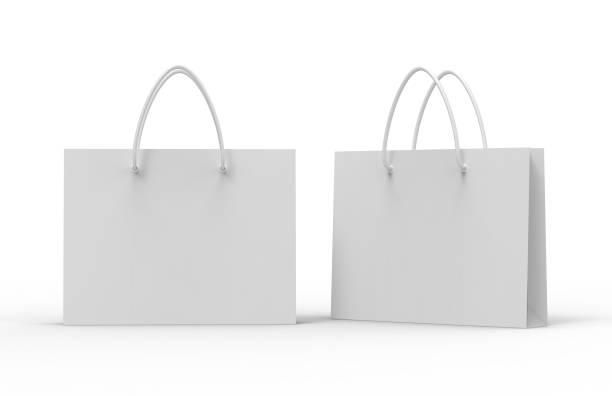 Bolsa de papel para ir de compras. - foto de stock