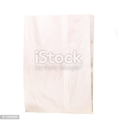 912671588istockphoto paper bag isolated 612390992