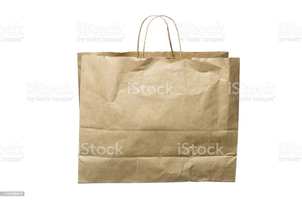 Paper Bag with Handle royalty-free stock photo