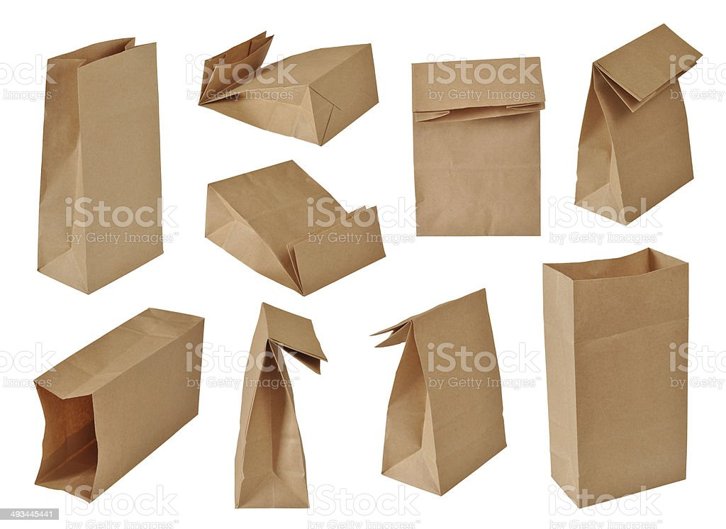 paper bags set stock photo