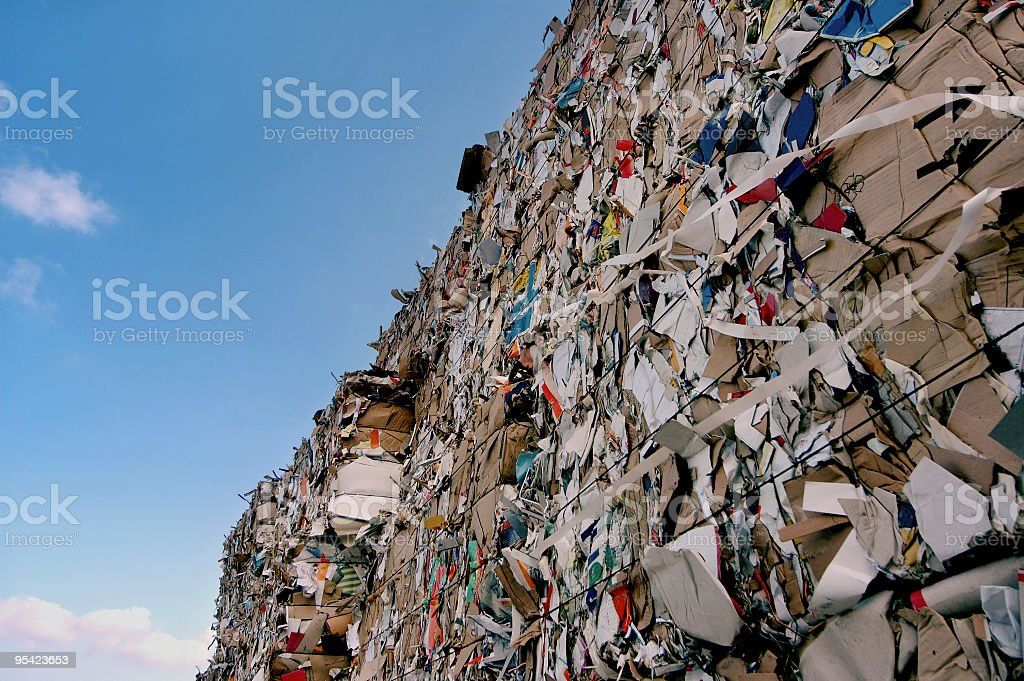 paper baled stock photo